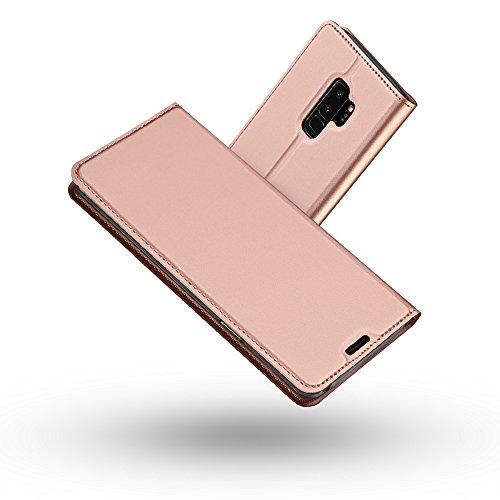 Radoo Galaxy S9 Plus Hülle, Premium PU Leder Handyhülle Brieftasche-Stil Magnetisch Klapphülle Etui Brieftasche Schutzhülle Tasche für Samsung Galaxy S9 Plus (Rose Gold)