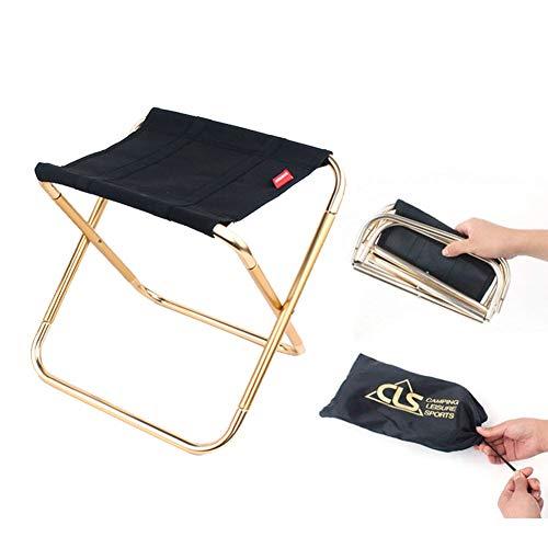 ANSUG Mini Klappstuhl, tragbarer Stuhl-im Freien Leichte Klappstuhl für BBQ, Camping, Angeln, Reisen, Wandern, Garten, Strand
