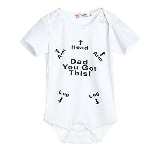 Iphone 10 6 Lange Ladegerät Meter (Baby Infant Kinder Buchstabe Pfeil Print Tops Kleidung strampelanzug Overall Bodysuit)