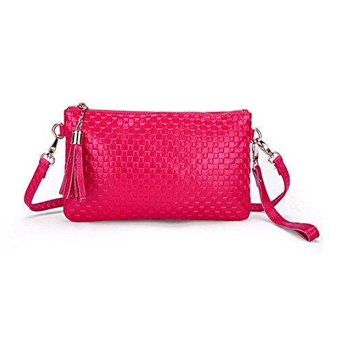 Eysee, Poschette giorno donna Rosso Azzurro 21cm*13cm*1cm. rosa
