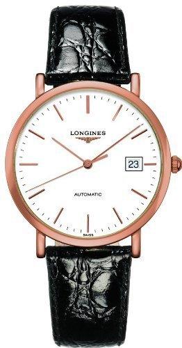 Longines la Grande classique automatique Cadran blanc en cuir Noir montre pour homme L47878120par Longines