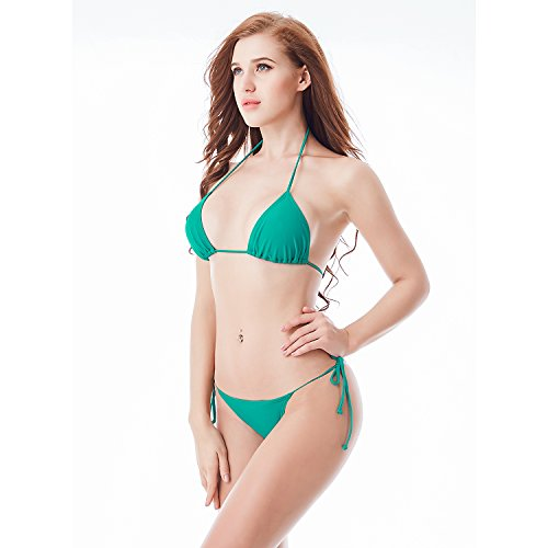 I-Glam costumi Bikini a brasiliana, con parte superiore e inferiore BeachWear Green
