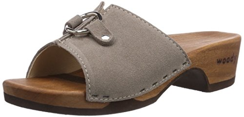 Woody Emily, Chaussures de Claquettes femme Gris - Taupe