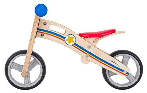 BIKESTAR-Mini-Bicicleta-Premium-sin-pedales-combinacin-de-2-y-3-ruedas-para-los-enanos-de-la-casa-desde-18-meses–2-en-1-Edicin-Madera-Natural–Pequeos-Sheriffs