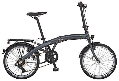 """Prophete Unisex- Erwachsene GENIESSER 9.1 City Bike 20\"""" Cityfahrrad, anthrazit matt, RH 30 cm"""
