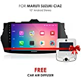 Woodman SSMC906 MARUTI CIAZ Android Smart Stereo 10 Inch Touch Screen (GPS Navigation/ Playstore/Screen Mirroring/Bluetooth/USB/WiFi) Car Stereo With Night Vision Rear View Camera Free Car Air Diffuser (Limited Edition)