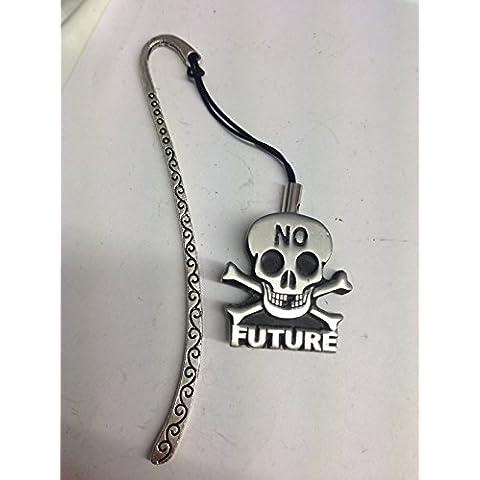 Futuro Skull Bones & J30-SB-Segnalibro 3D, con cordino con ciondolo in peltro (Patterns Bone)