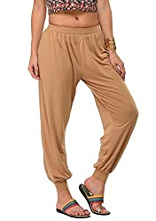 Frenchtrendz Women Harem Pants (Dark Beige, XXXX-Large)