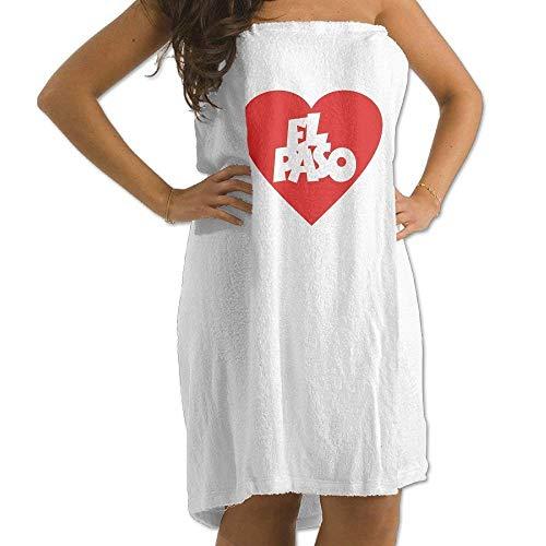 Ewtretr Strandtücher I Love EL Paso Men's Womens Bath Wrap Towels Bathroom Shower Wrap Beach Spa White for Teen Girls Adults Travel Towel