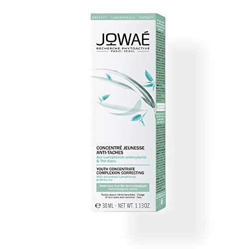 JOWAE Concentrato di giovinezza anti-macchie giorno Siero luminosità ai lumifenoli antiossidanti e tè bianco - Tutti i tipi di pelle, anche la più sensibile - Viso - 89% naturale - Vegan - 30ml