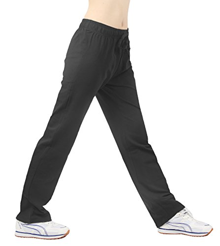iLoveSIA® Pantalons de sport Capri Pantalon de femme fitness 2PCS Lot (Noir+Gris)