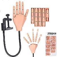 WACBH Training Hand Praxis Nail Art Trainer Verstellbare Training Hand Modle + 200 Tipps preisvergleich bei billige-tabletten.eu