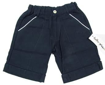"""TUTTO PICCOLO """"Golf Summer Sommer"""" Baby Jungen kurze Hose Marine Look Leinen (Blau/Weiß)"""