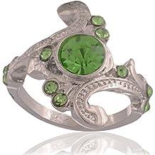 Anillo de piedra verde de Slytherin, de Accessorisingg, RG075, inspirado en Harry Potter