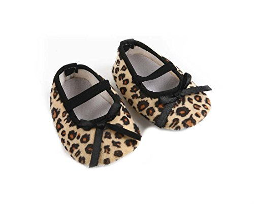 CHIC*MALL Fashion neugeborenes Kind Leopard Brown Bow rutschfeste Soft-Baby-Krippe-Schuhe (11) (Leopard Chic)