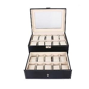 20 Uhren Uhrenbox Uhrenkoffer Uhrenkasten Uhrenschatulle Kunstleder Uhren Box versand aus Deutschland