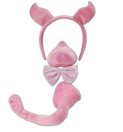 Bristol Novelty DS115 Pig Kostüm Set mit Sound, Pink, One size