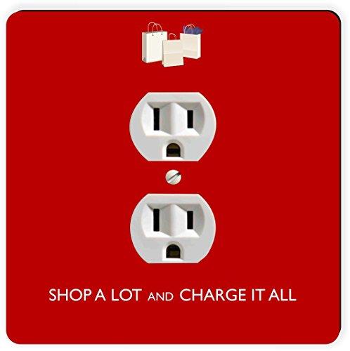 Rikki Knight Shop Viel & Charge It Alle rot Einzigen Steckdose Platte