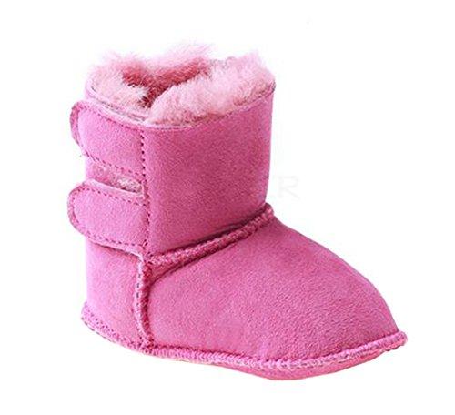OZwear UGG Säuglingskleinkind-Schnee-Aufladungs-Hauptschuhe Rose M/(US Infant 1M-2M)/(UK 0.5-1)/(EU 16-17) - Kleinkinder Stiefel Uggs Für