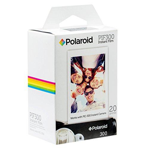 Polaroid PIF300 Pellicule instantanée Conçue pour être utilisée avec les appareils photo Fujifilm Instax Mini et PIC 300 (20 feuilles)