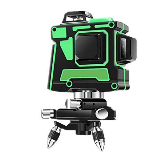Kreuzlinienlaser, 3D 12 Laserlinie 3x360 Horizontales und vertikales Kreuz Superstarke grüne Laserstrahllinie, Selbstnivellierungs-Laser-Level, 3D Green Beam Selbstnivellierlaser Paket A