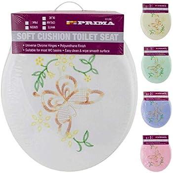 fixation universelle facile /à nettoyer Si/ège de toilette rembourr/é assorti avec coussin 43 cm