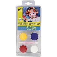 """'Aqua Niños–Set de maquillaje """"payaso (4colores con pincel–soluble) Top calidad"""