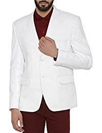 Wintage Men's Linen Tailored Fit Solid Evening / Casual Blazer Coat Jacket : Black, X-Small