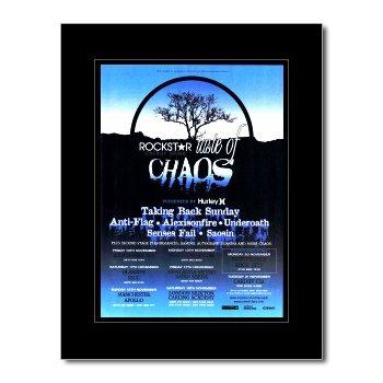 Taking Back Sunday Poster (TAKING BACK SUNDAY-Taste of Chaos 2006 Poster, Miniposter, matt, 28,5 x 21 cm)