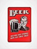 DiiliHiiri Cartel de Chapa Vintage Decoración, Letrero A4 Estilo Antiguo de metálico Retro-Beer