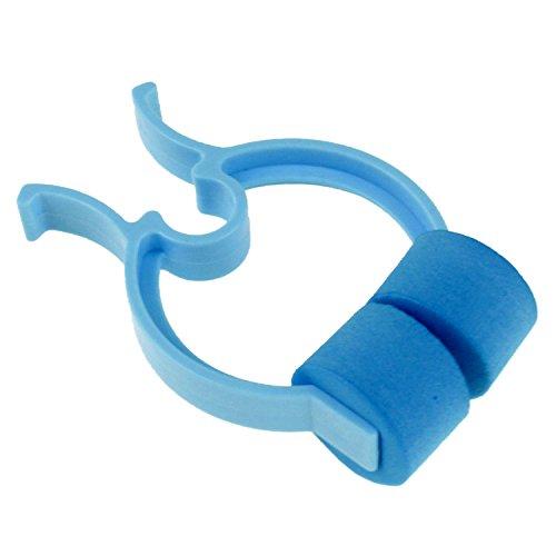 MIR Nasenklammer Nasenclip in hellblau mit Polsterung für Spirometer Spirometrie Test Kosmetik