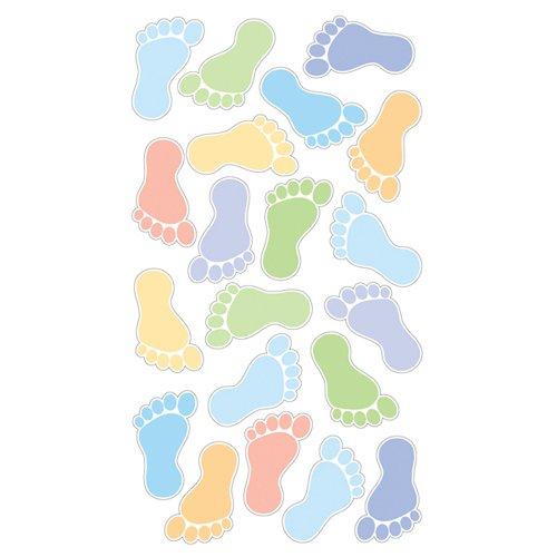 Sticko 442244 Wunderkerze Klassische Aufkleber-Footprints Jungen