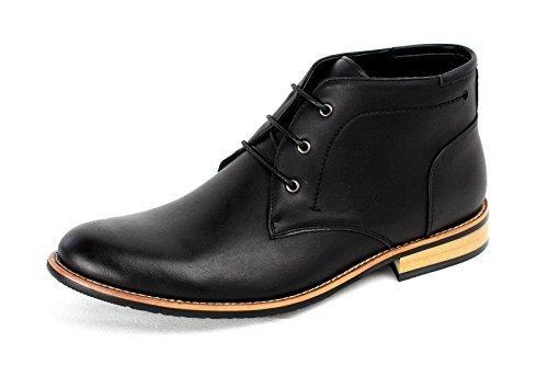 Hommes Bottine Mode Décontractée Motard Chaussures Habillées élégant UK 6 7 8 9 10 45 NEUF Noir