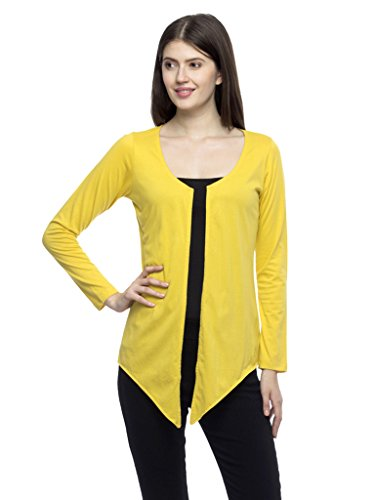 Wisstler Women's Yellow Cotton Single Jersey Shrug Size X-Large  available at amazon for Rs.270