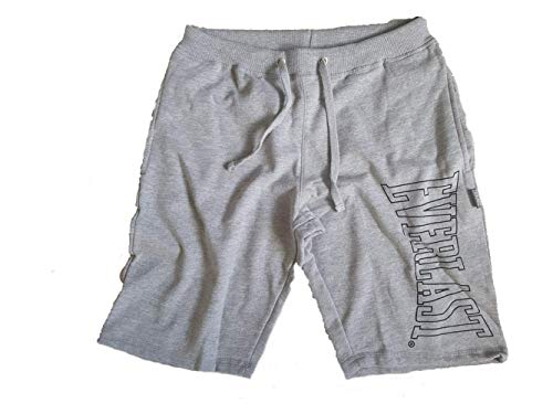 Everlast Mens Large Logo Shorts EVR11140 (Grey Marl, M) -