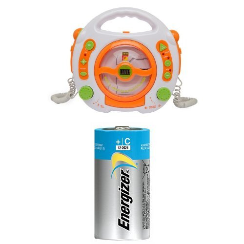 Idena 6800533 CD- und MP3-Player weiß + 3x Energizer Advanced Baby Batterie (2-er Pack)