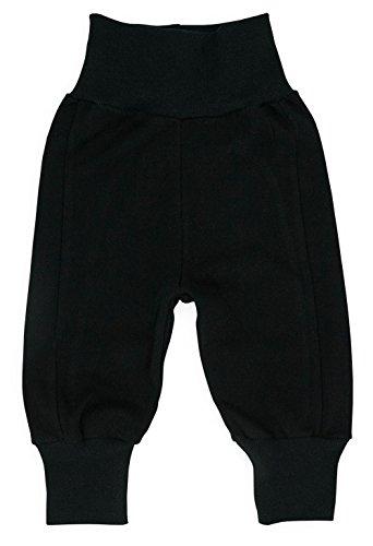MAKOMA Baby Jungen und Mädchen Hose ohne Fuß Krabbelhose (86, Black)