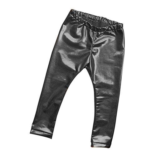 Moresave Infant Baby Kinder Schicke Leder Hosen Kleinkind Bottom Leggings (Hosen Stretch-leder-dünne)