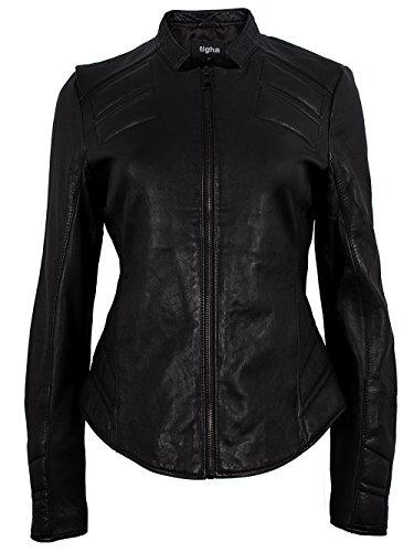 TIGHA Damen Lederjacke Vintage Black KAREN Neue Kollektion XL
