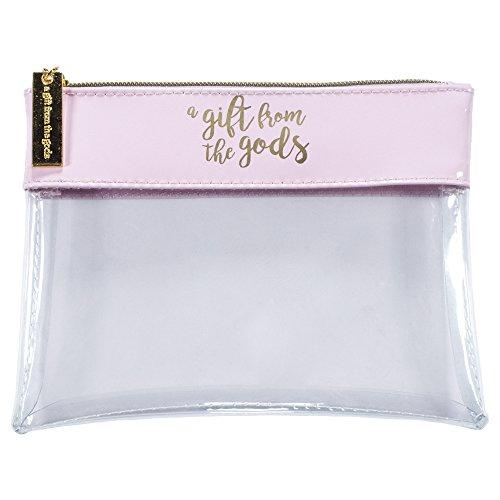 Un regalo de los dioses de la mujer claro con cremallera de viaje Make Up neceser