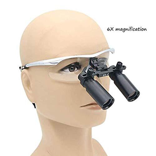 MAGO 6X Dental Binokulare Stirnband Lupen Chirurgische Magnifiers Medical 420Mm Arbeitsabstand Für Pédiatrie Laboratoire Ophtalmologie Stomatologie Dentaire