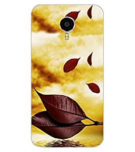 ColourCraft Beautiful Leafs Design Back Case Cover for MEIZU BLUE CHARM NOTE 3