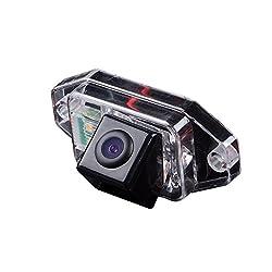 Dynavsal Auto HD CCD Rückfahrkamera 170° Weitwinkel mit Radar Sensor Einparkhilfe Universal für PAL/NTSC, Schwarz für Toyota Land Cruiser 120 Series Prado from 2002 to 2009