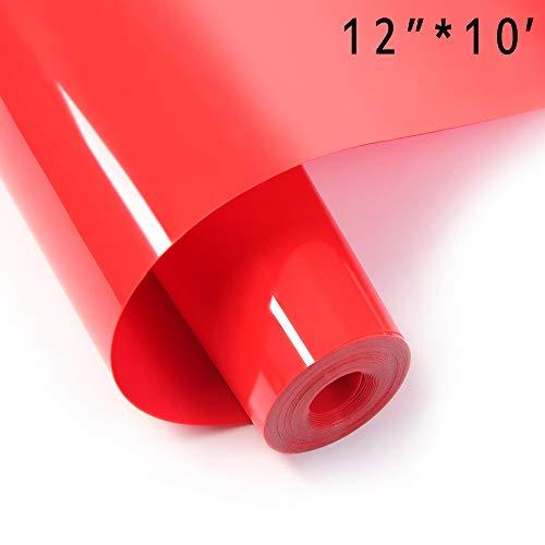 Vinyl HTV, 30,5 x 3 m Rolle, leicht zu Unkraut-Lron auf Vinyl für Cricut oder Silhouette Cameo rot (T-shirt Vinyl-cutter-maschine)