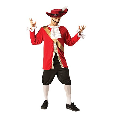 Rubie 's Captain Hook Offizielles Herren 's Fancy Dress Book Woche Pirat Kostüm für Erwachsene Outfit + (Piraten Captain Hook)