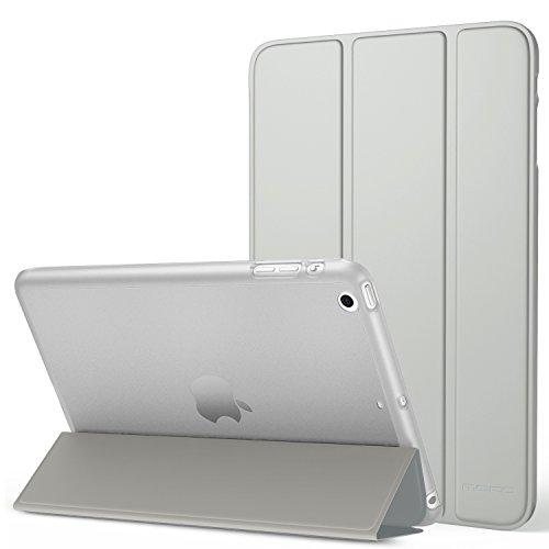Generation Ipad Fällen 1. Mini (MoKo Hülle für iPad Mini 3 / 2 / 1 - Ultra Slim Lightweight Smart Cover mit Durchschaubar Rückseite Schutzhülle und Auto Schlaf / Wach Funktion für Apple iPad Mini 3 / 2 / 1. Generation, Silber (Nicht für Mini 4))