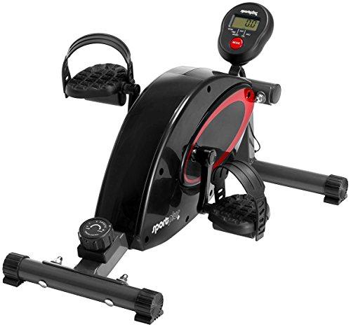 SportPlus Mini Heimtrainer inkl. Trainingscomputer, hochwertiges flüsterleises Magnetbremssystem mit Riemenantrieb, 8-facher Widerstand, Minibike SP-HT-000, Sicherheit geprüft