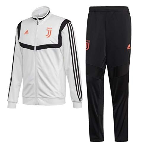 adidas Juventus Polyester, Tuta da Calcio Uomo, Bianco/Nero, M
