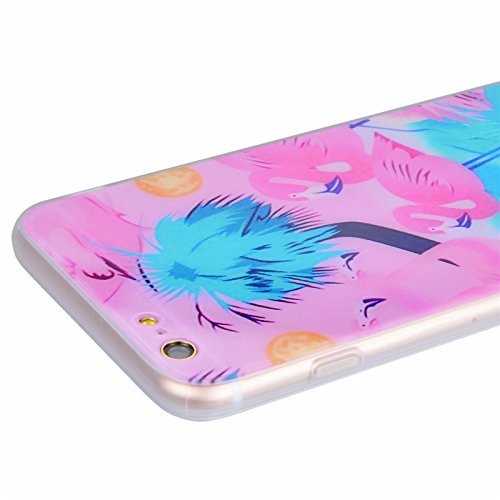 iPhone 6 / iPhone 6S Hülle, Yokata Weich TPU Soft Case mit Silikon Bumper Schutzhülle Dünne Case Cover + 1 X Stylus Pen - Marmor 8 Flamingo