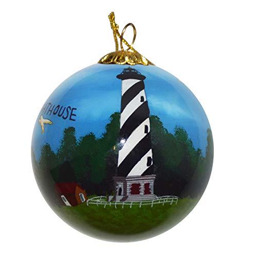 Unbekannt Art Studio Company Handbemalt Glas Weihnachten Ornament-Cape Hatteras Leuchtturm -
